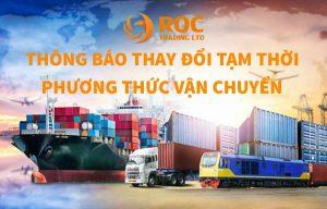 Thông báo thay đổi phương thức giao hàng, Thông báo về việc thay đổi phương thức giao hàng từ 16-23/08/2021, ROC